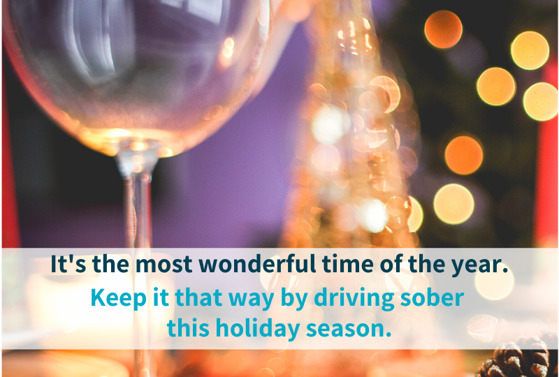 'tis the Season to drive sober